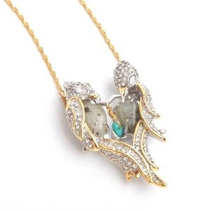 ALEXIS BITTAR • Lovebirds Crystal Necklace